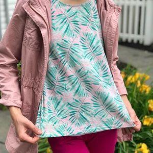Sleeveless Pink Palm Tree Shirt
